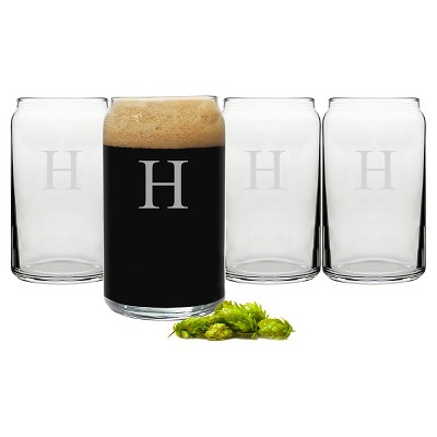 Cathy's Concepts 16 oz. Personalized Craft Beer Can Glasses (Set of 4)-H