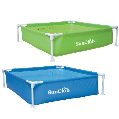 """JLeisure Sun Club 17256 48 x 13"""" 1 to 2 Person Capacity Above Ground Steel Frame Outdoor Swimming Pool, Assorted Colors Chosen at Random (2 Pack)"""