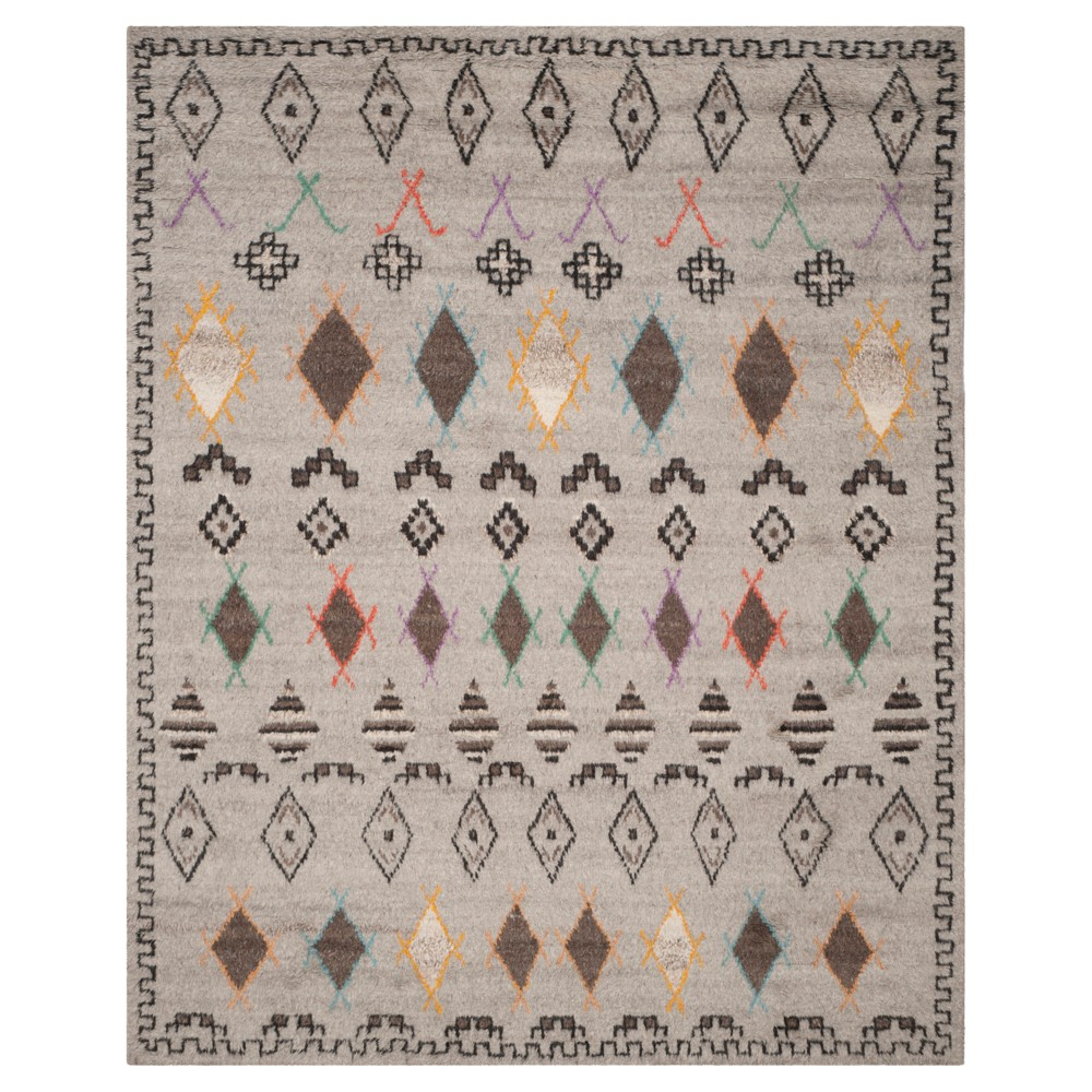 Natural/Multicolor Abstract Knotted Area Rug - (9'X12') - Safavieh, White
