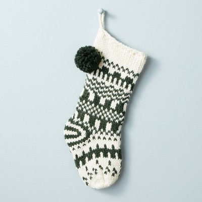 Jacquard Knit Pom Stocking - Hearth & Hand™ with Magnolia