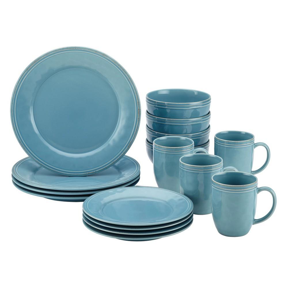 Image of Rachael Ray 16pc Cucina Dinnerware Set Blue