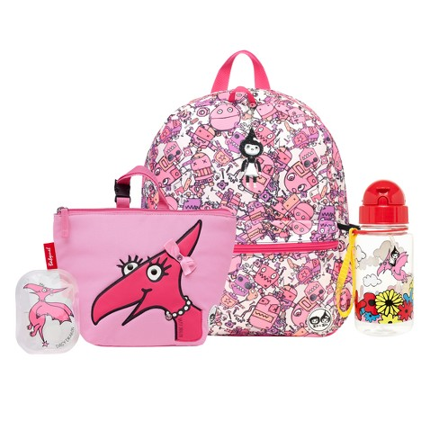 Zip & Zoe Junior Kids' Backpack with Lunch Bag and Water Bottle - Robots Pink/Daisy Dragon - image 1 of 5