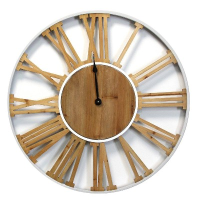 "30"" Franklin Wood and Metal Clock - Stratton Home Décor"