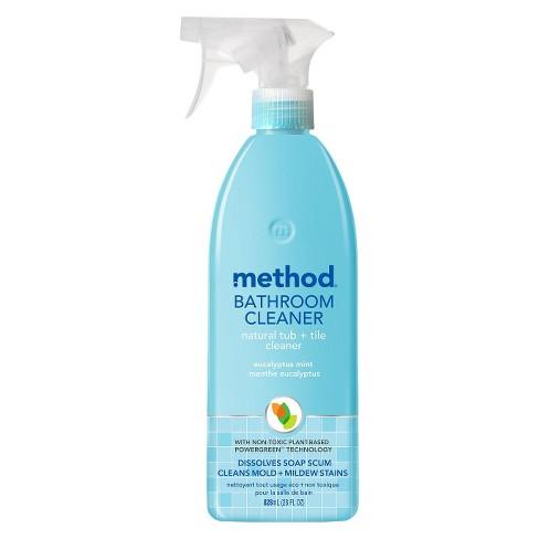 Method Cleaning Products Bathroom Cleaner Tub Tile Eucalyptus Mint Spray Bottle 28 Fl Oz Target
