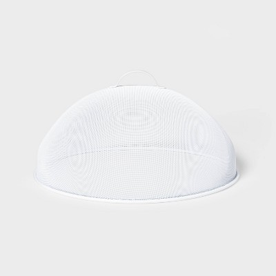 "15.7"" Steel Food Dome White - Sun Squad™"