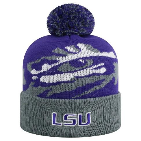 NCAA LSU Tigers Pom Knit Hat   Target 81263140780