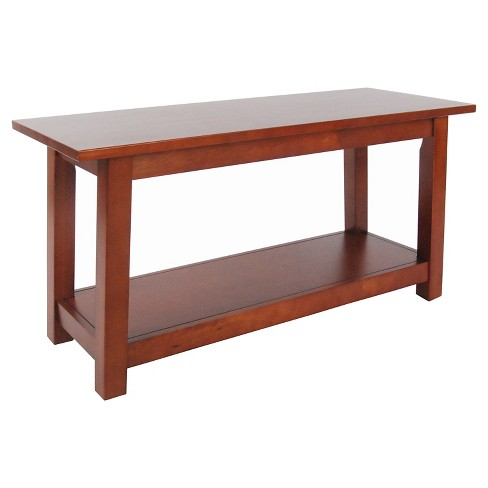 "36"" Bench with Shelf Hardwood Cherry - Alaterre Furniture® - image 1 of 1"
