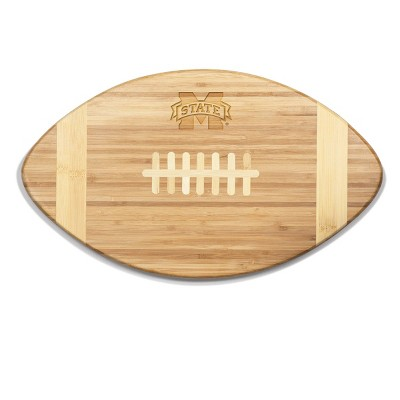 NCAA Mississippi State Bulldogs Touchdown! Football Cutting Board & Serving Tray - Brown