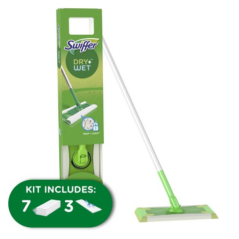 Swiffer Sweeper 2-in-1, Dry and Wet Multi Surface Floor Cleaner, Sweeping and Mopping Starter Kit. Includes 1 Mop + 10 Refills - image 1 of 4