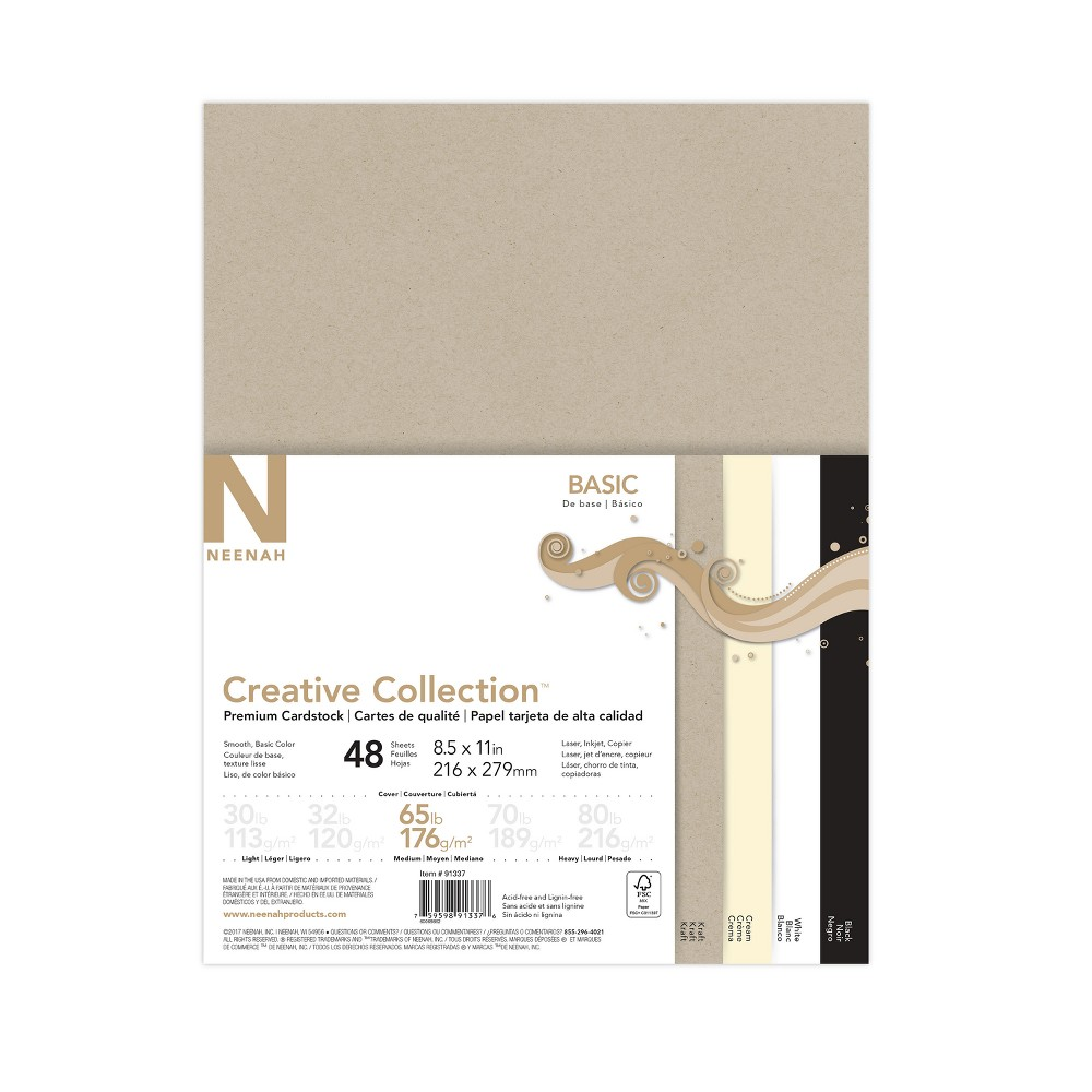 "Image of ""48ct Cardstock 8.5"""" x 11"""" Multicolor - Creative Collection"""