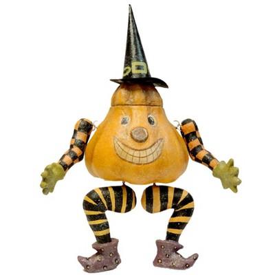 Halloween Pumpkin Sitter Witch  -  Decorative Figurines