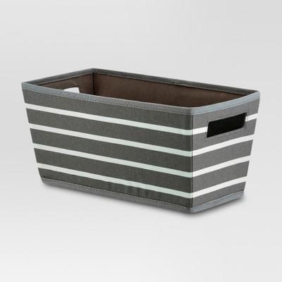 Fabric Quarter Bin - Gray Stripe - Threshold™