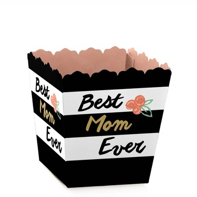 Big Dot of Happiness Best Mom Ever - Party Mini Favor Boxes - Mother's Day Party Treat Candy Boxes - Set of 12
