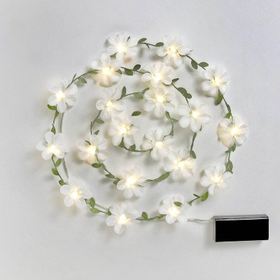 Spring Floral Fairy String LED Lights White - Spritz™