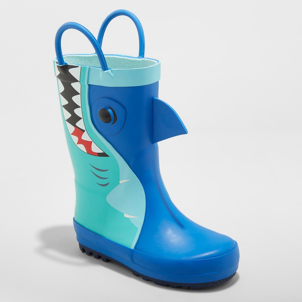 Toddler Boys' Cesar Rain Boots - Cat & Jack Blue 7