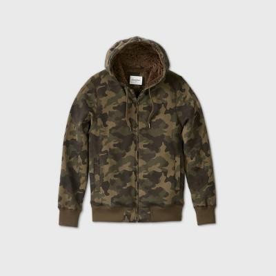 Men's Sherpa Lined Hooded Fleece Jacket - Goodfellow & Co™