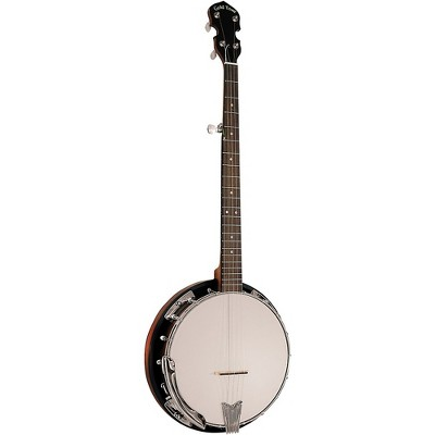 Gold Tone Cripple Creek CC-50RP/L Left-Handed Resonator Banjo With Planetary Tuners and Gig Bag Vintage Brown