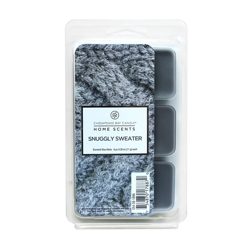 6pk Warmer Scent Melts Snuggly Sweater - Home Scents by Chesapeake Bay Candle, Gray