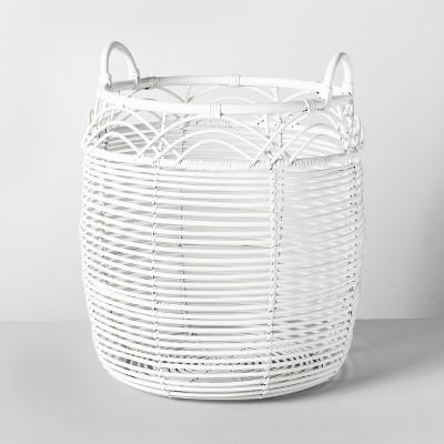 18  x 18  Woven Rattan Basket White - Opalhouse™