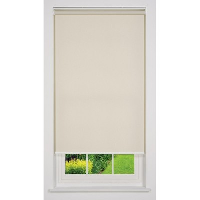 Linen Avenue Cordless Light Filtering Roller Shade, Beige and Taupe