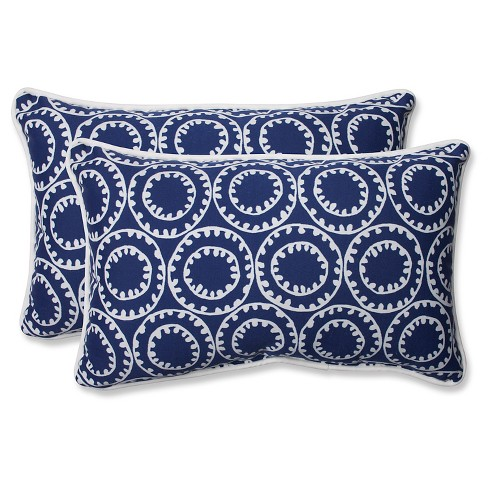Pillow Perfect Ring A Bell Outdoor 2 Piece Lumbar Throw Pillow Set