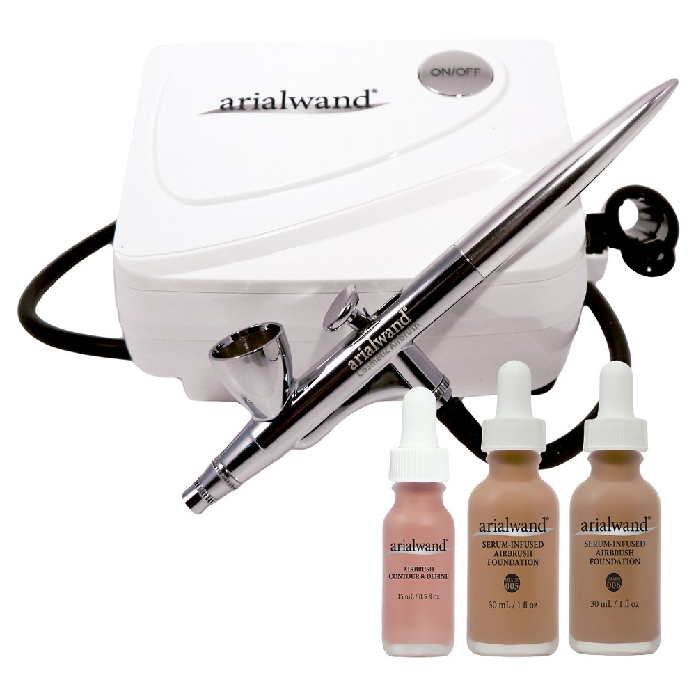 Image of Arialwand Airbrush Kit with Serum Infused Foundation Tan - 1 fl oz