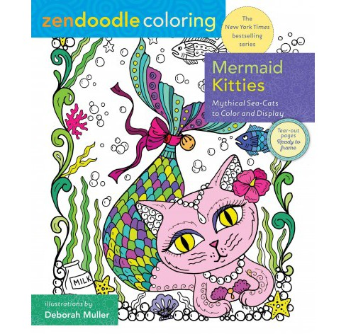 Magical Mermaid Kitties : Mythical Sea-Cats to Color and Display (Paperback) (Deborah Muller) - image 1 of 1