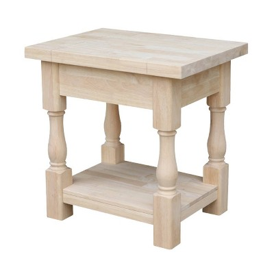 Tuscan End Table - Unfinished - International Concepts