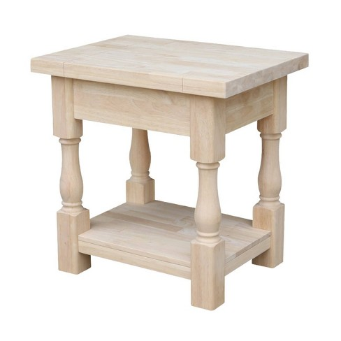 Tuscan End Table Unfinished