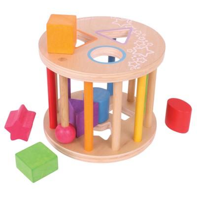 Bigjigs Toys First Rolling Shape Sorter Wooden Developmental Toy (7pc)