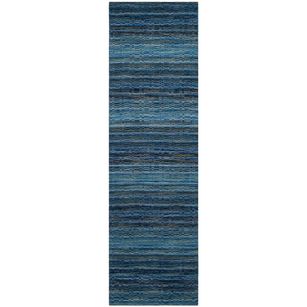 2'3X12' Loomed Stripe Runner Rug Blue - Safavieh