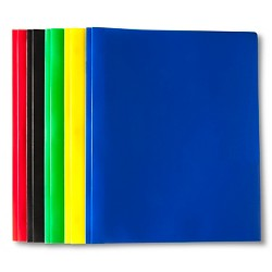 5pk 2 Pocket Plastic Folders with Prongs - Up&Up™