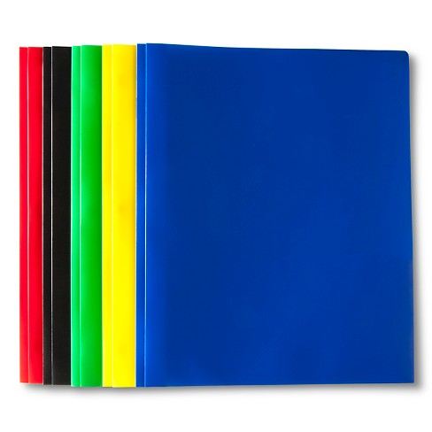"Plastic Folders with Prongs, 9"" x 11.75"", 2 Pocket, 5ct - Up&Up™ - image 1 of 1"