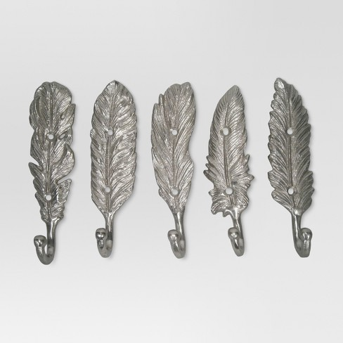 Feather Hooks set of 5 - Silver - Threshold™ - image 1 of 2