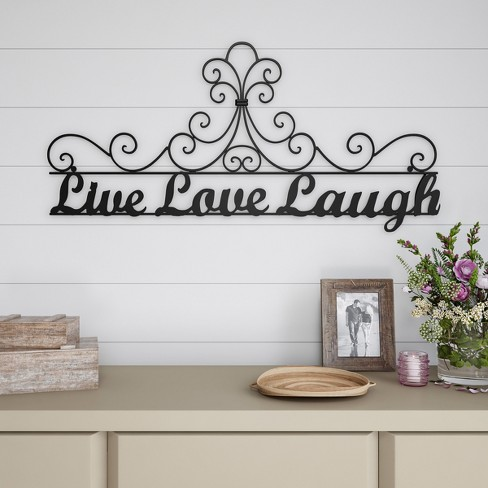 Live Laugh Love Wall Sign Black Lavish Home Target