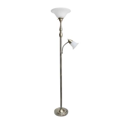 """71"""" 3-way 2 Light Mother Daughter Floor Lamp Antique Brass - Elegant Designs - image 1 of 4"""