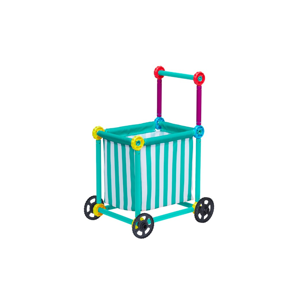 Antsy Pants Market Kit - Market Cart, Multi-Colored Grab your shopping list and cruise down the aisles in style to fill your shopping cart with delicious foods and treats! Featuring a fabric cover, plastic wheels, color-coded poles and Snap and Click connectors, the Market Shopping Cart is perfect for imaginative playtime. Get and give play! For every item purchased, Antsy Pants helps national nonprofit KaBoom! build playgrounds for kids living in poverty across America. *For more info on the Antsy Pants donation program, please visit antsypants Websites. Color: Multi-Colored. Gender: Unisex.