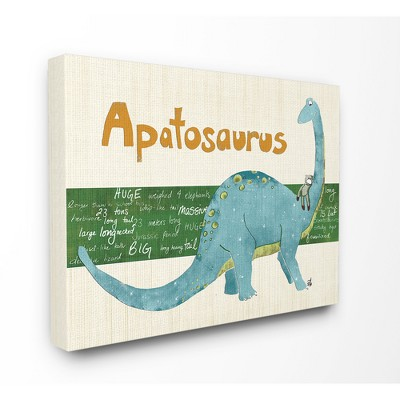 """Apatosaurus Dinosaur Oversized Stretched Canvas Wall Art (30""""x40""""x1.5"""") - Stupell Industries"""