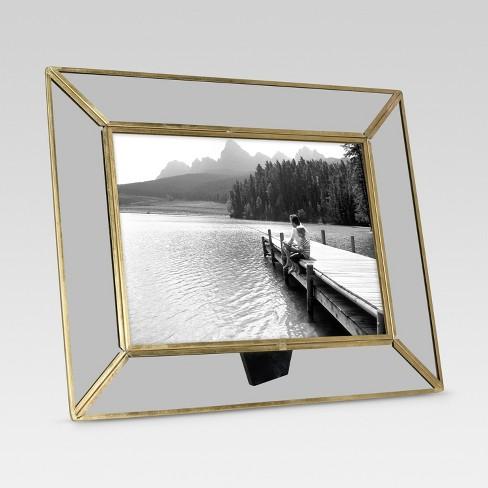 Single Image Frame 5X7 Brass - Threshold™ : Target