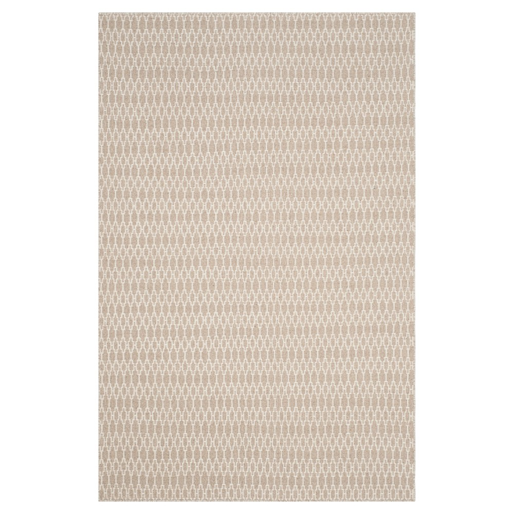Beige/Ivory Abstract Woven Area Rug - (6'x9') - Safavieh
