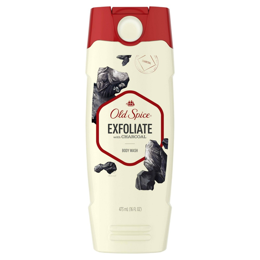 Image of Old Spice Body Wash for Men Exfoliate with Charcoal Scent - 16oz
