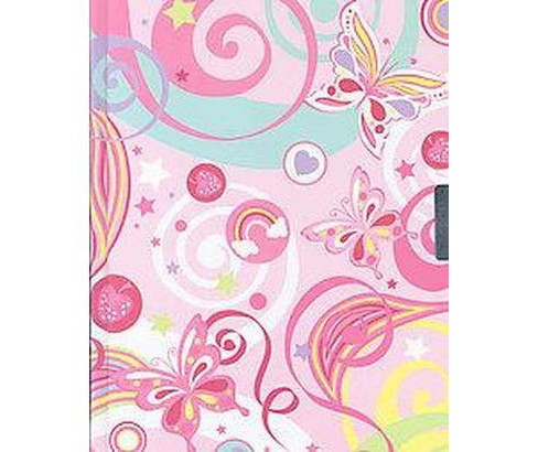 Fantasy Butterflies Locking Journal (Hardcover) - image 1 of 1