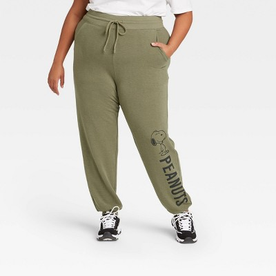 Women's Peanuts Jogger Pants - Green
