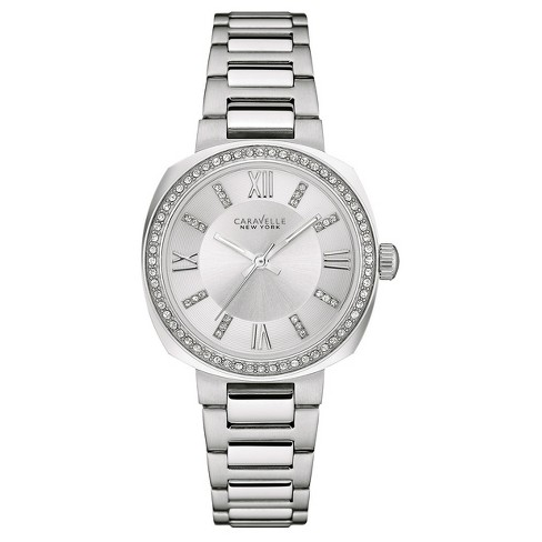 abb51d5ce Women's Caravelle New York Crystal Stainless Steel Watch 43L195 - Silver