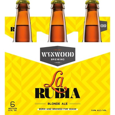 Wynwood La Rubia Blonde Ale Beer - 6pk/12 fl oz Bottles