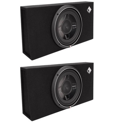 """2) Rockford Fosgate P3S-1X12 12"""" 1600W Shallow Loaded Subwoofers Sub Enclosures"""
