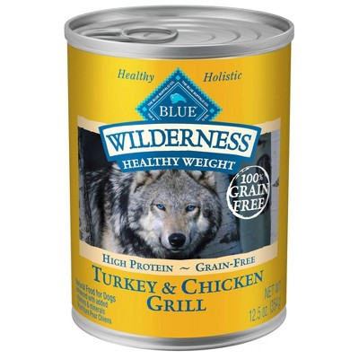 Dog Food: Blue Buffalo Wilderness Adult Healthy Weight Canned Food