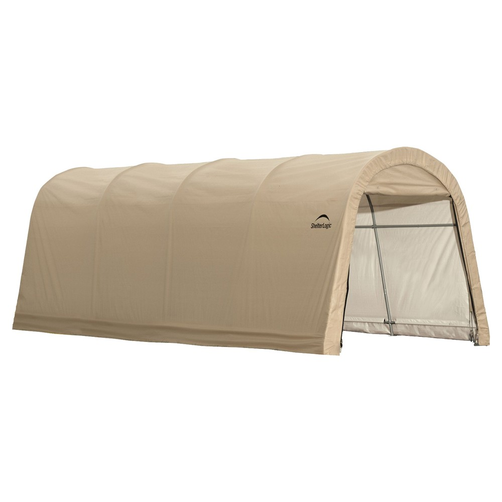 Autoshelter 10X20X8' Roundtop Instant Garage - Sandstone - Shelterlogic, Light Brown