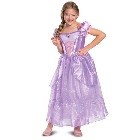 Kids' Deluxe Disney Princess Rapunzel Halloween Costume Dress - image 1 of 4