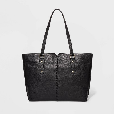 Bolo Crossbody Tote Handbag With Whipstitch Detail